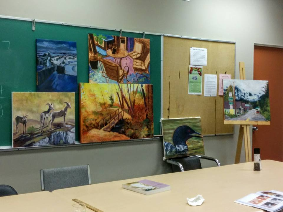 Class paintings from Oct 2016 Shatford OSA                         workshop