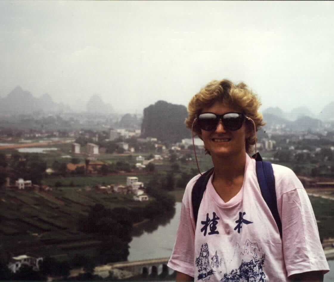 Angie in China 1987