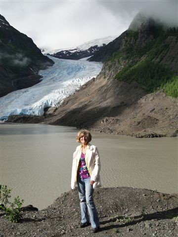 Angie Roth McIntosh at Bear Glacier