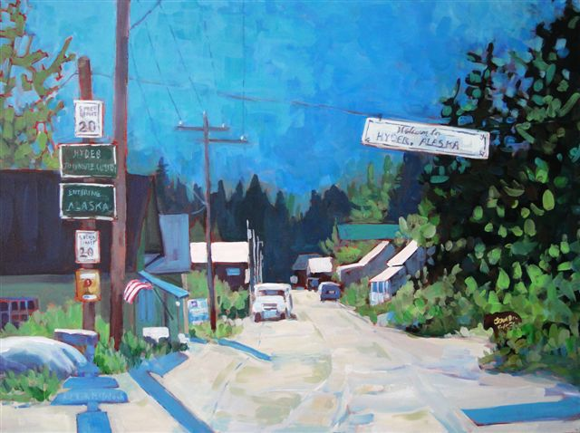 Hyder Main Street Acrylic by Angie Roth McIntosh