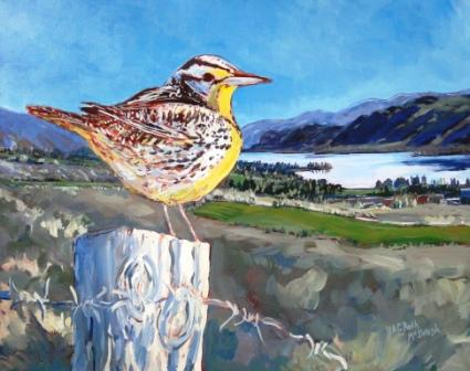 Meadowlark View (Osoyoos)  Acrylic by Angie Roth McIntosh
