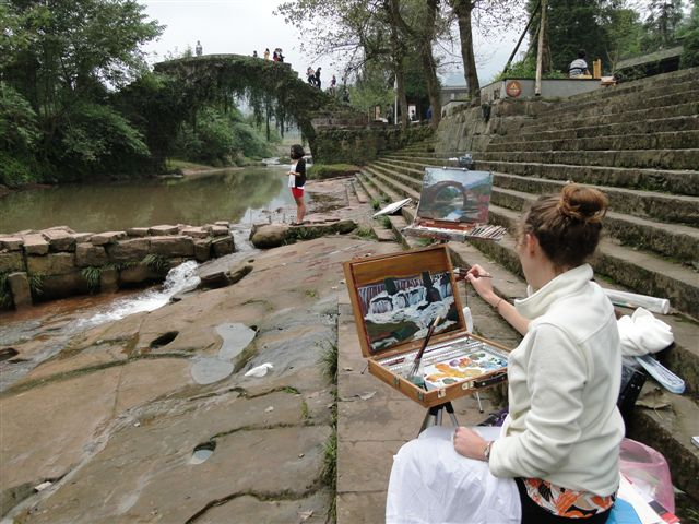 Daughter Kelsey                                                   painting in Shangli