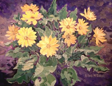 Balsam Root in Acrylic
