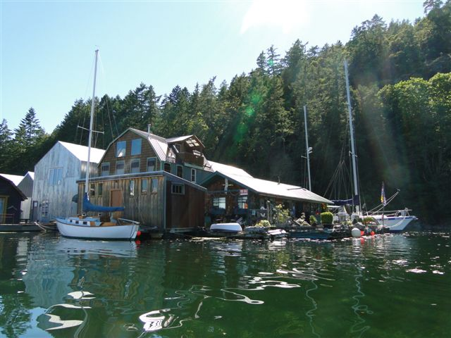 Lovely float home at Genoa Bay