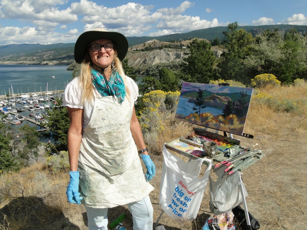 Painting above Marina                         Penticton