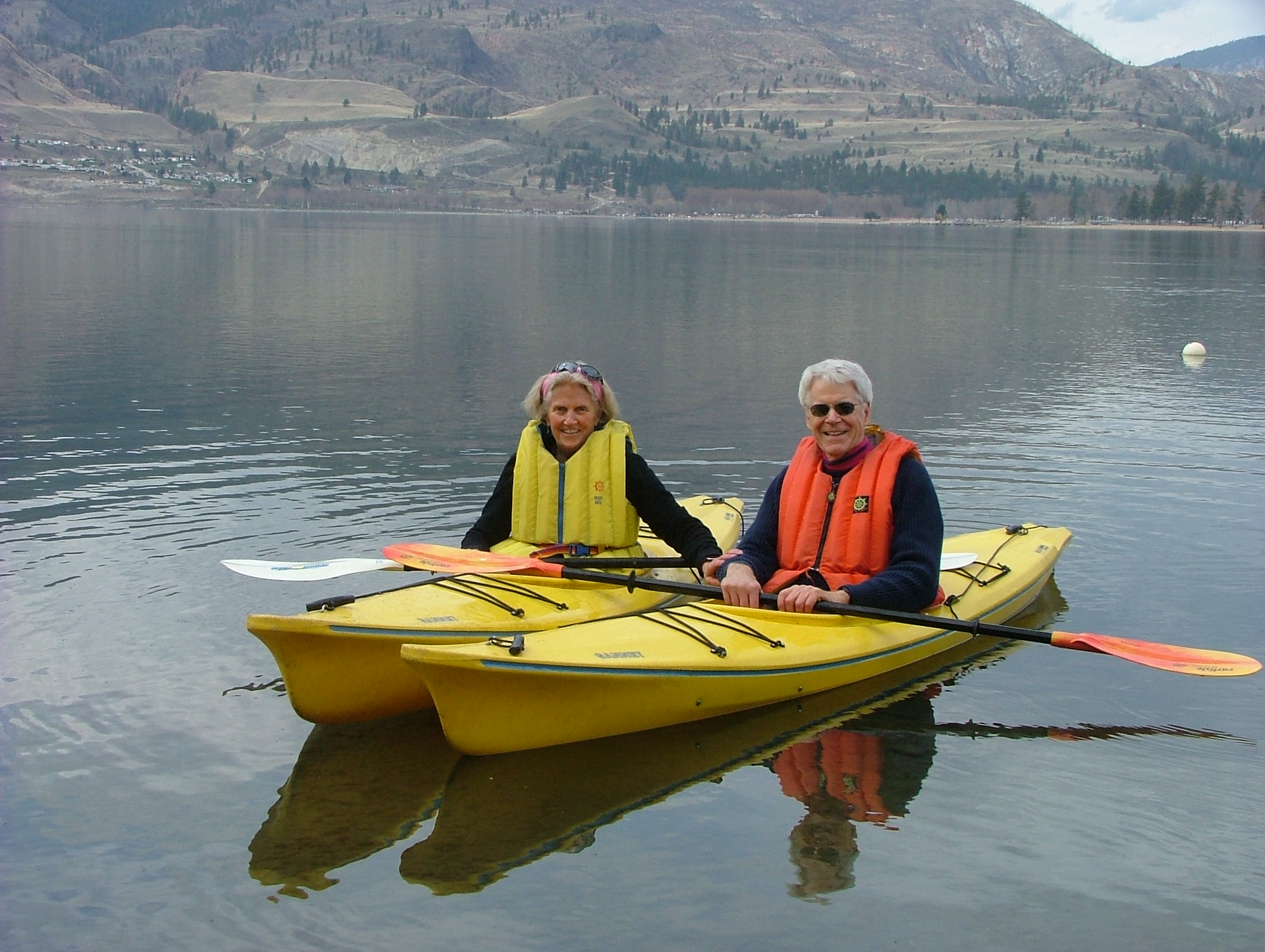 Dr. and Mrs. Esselstyn at Skaha Lake