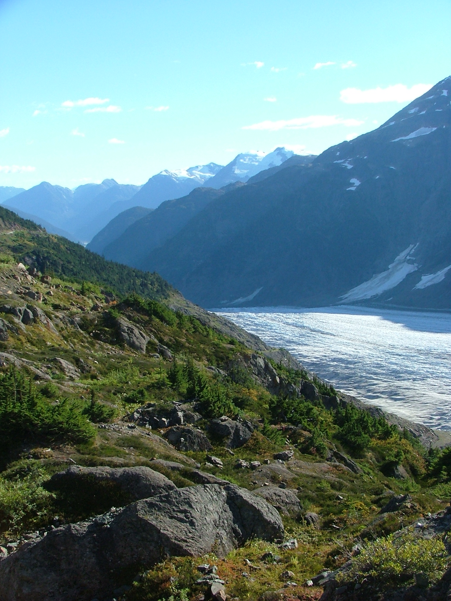 Glacier Feeding the Salmon River