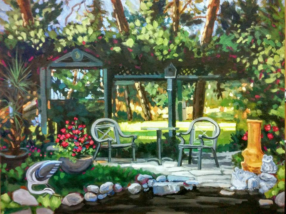 Summer                                         Garden Oil by Angie Roth                                         McIntosh painted from life